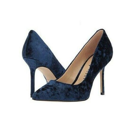 Katy Perry The Sissy Crushed Velvet Navy Pump, Size 5.5 M