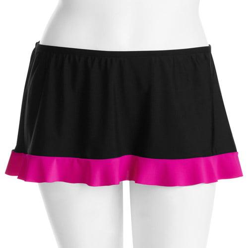OP Juniors' Plus Ruffle Skirted Swimsuit Bottom