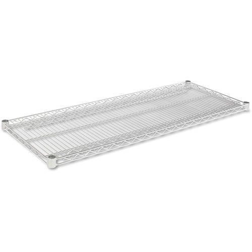 """Alera Industrial Wire Shelving Extra Wire Shelves, 48""""W x 18""""D, 2 Shelves Per Carton, Available in Silver or Black"""