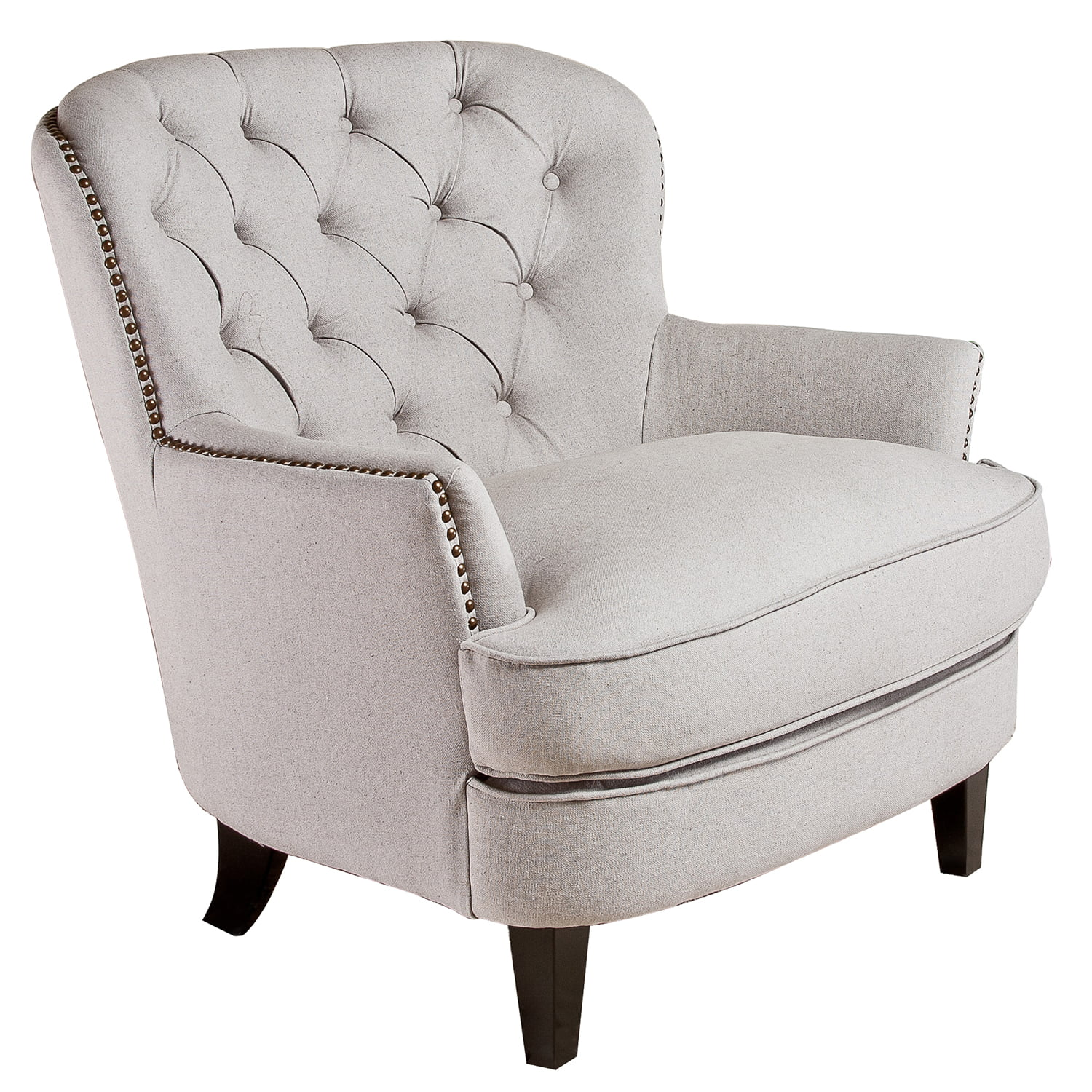 Tilden Tufted Fabric Club Chair, Multiple Colors by GDF Studio