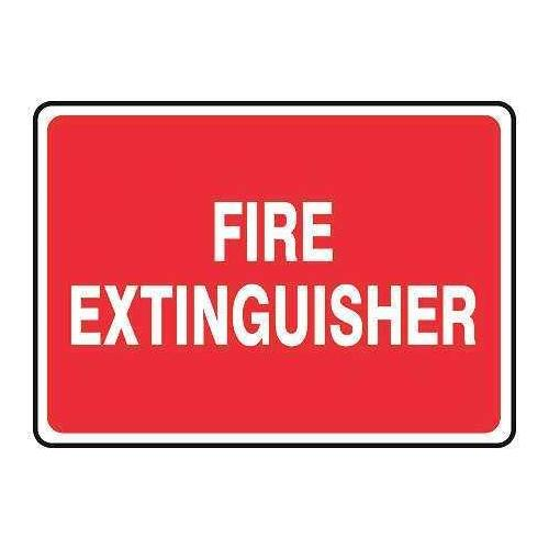 ACCUFORM SIGNS MFXG577VP Fire Extinguisher Sign, 5 x 14In, WHT/R