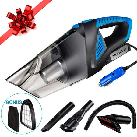 Car Vacuum Cleaner High Power DC 12V 120W Wet&Dry Portable Handheld Auto Vacuum Cleaner with Stainless Steel HEPA Filter, 3 different attachments and One Carrying