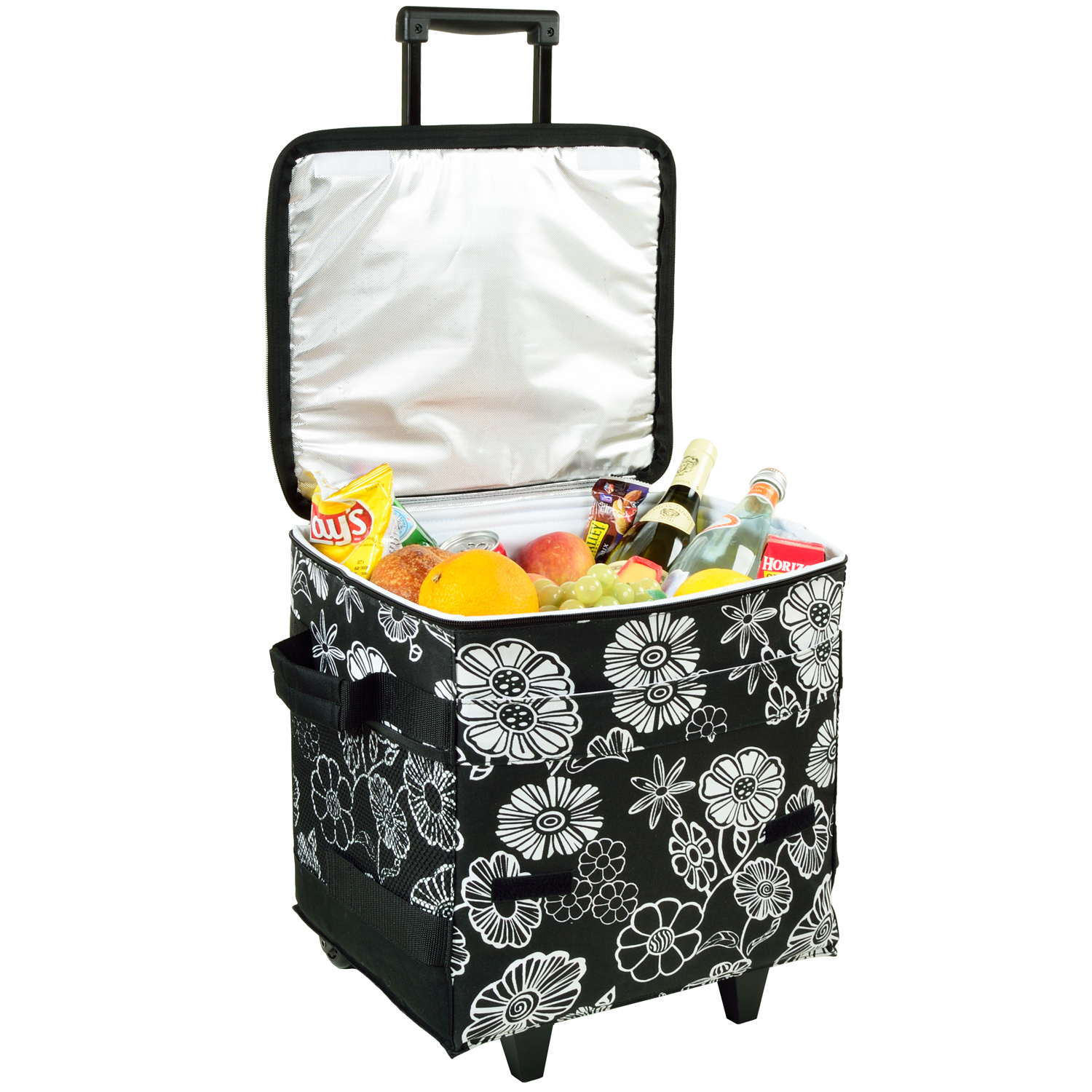 Picnic at Ascot Night Bloom 60 Can Collapsible Rolling Cooler  (396-NB)