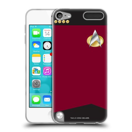 OFFICIAL STAR TREK UNIFORMS AND BADGES TNG SOFT GEL CASE FOR APPLE IPOD TOUCH MP3 (Star Trek Tng Uniforms)