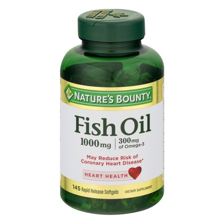 Nature's Bounty Fish Oil Omega-3 Softgels, 1000 Mg, 145 (Nature's Best Fish Oil)
