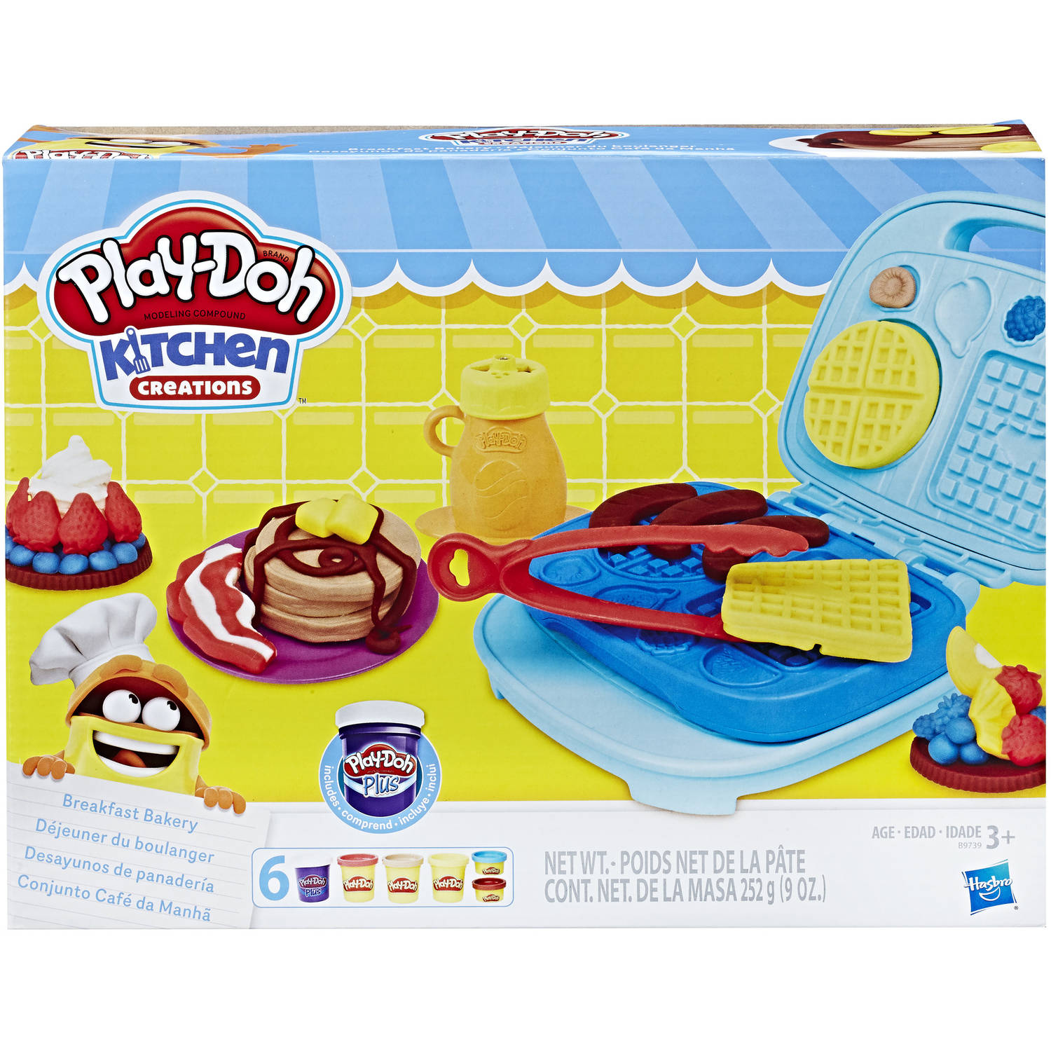 Play-Doh Kitchen Creations Breakfast Bakery Food Set