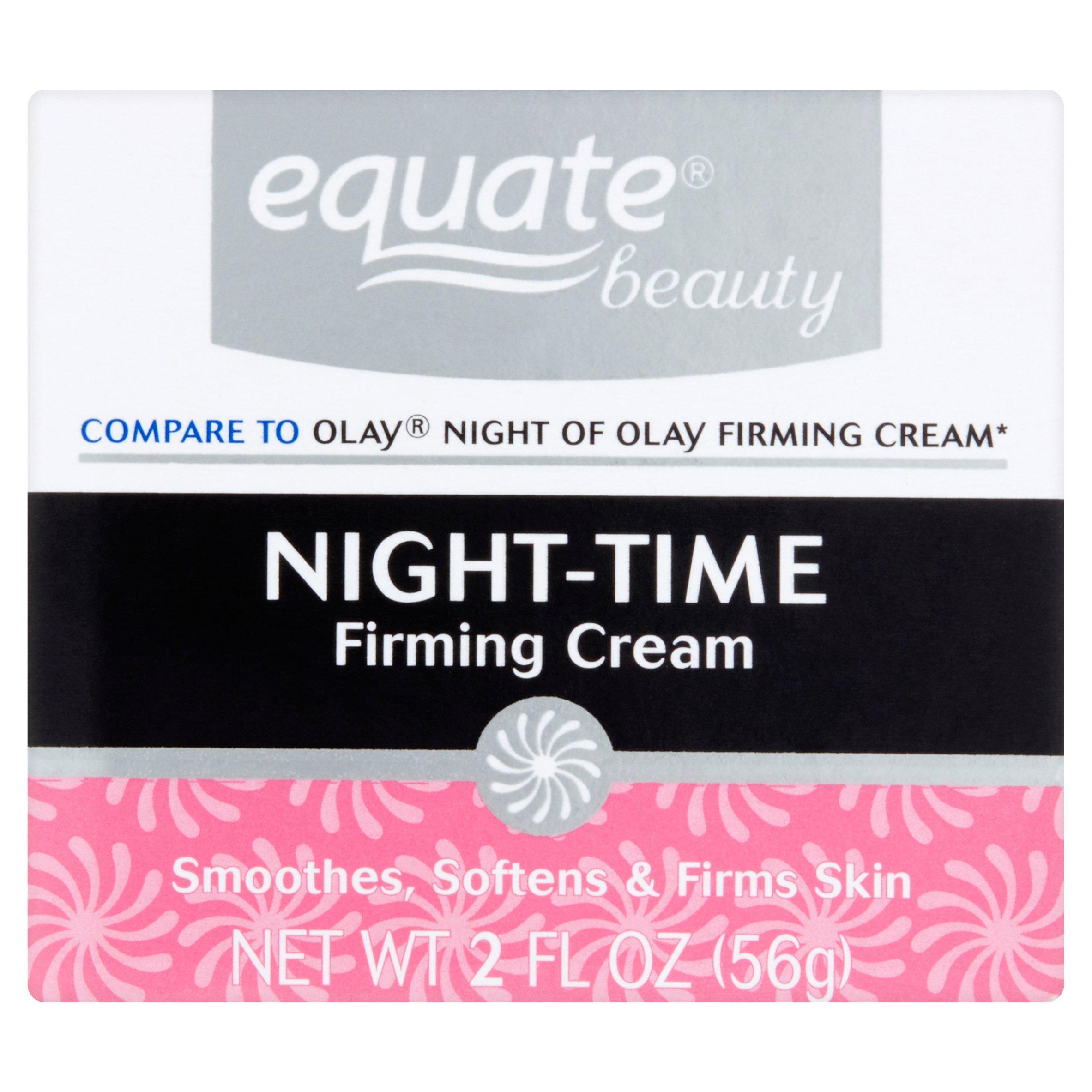 Equate Firming Night Cream Face Moisturizer, 2 Oz