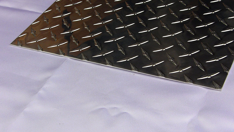 "set of 4 .045 Aluminum Diamond Plate Sheet Plate 4/"" x 4/"""