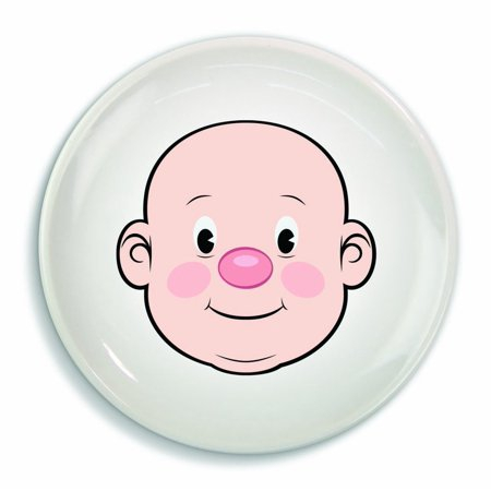 Fred & Friends MR FOOD FACE Kids' Ceramic Dinner Plate Fun Food Dinner Plate NEW