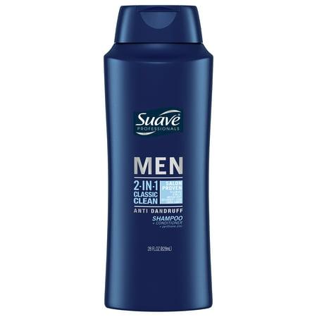 Suave Men Classic Clean 2in1 AntiDandruff Shampoo & Conditioner, 28 oz
