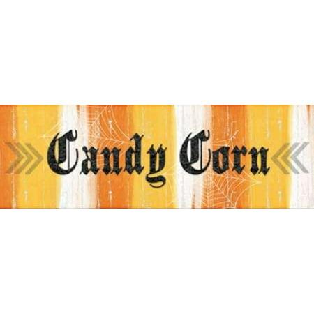 Candy Corn Canvas Art - Linda Woods (8 x 24) - Candy Corn Art
