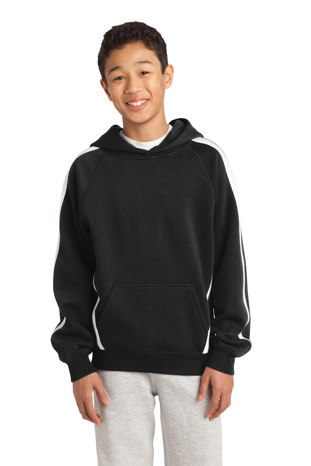 Sleeve Stripe Pullover Hooded Sweatshirt