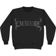 Emmure Men's  Logo Black On Black Sweatshirt Black