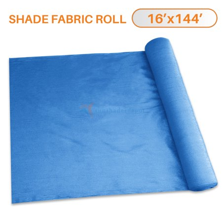 Sunshades Depot 16' x 144' Shade Cloth 180 GSM HDPE Blue Fabric Roll Up to  95% Blockage UV Resistant Mesh Net