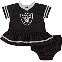 NFL Oakland Raiders Girls Dress and Diaper Cover Outfit Set, 2pc