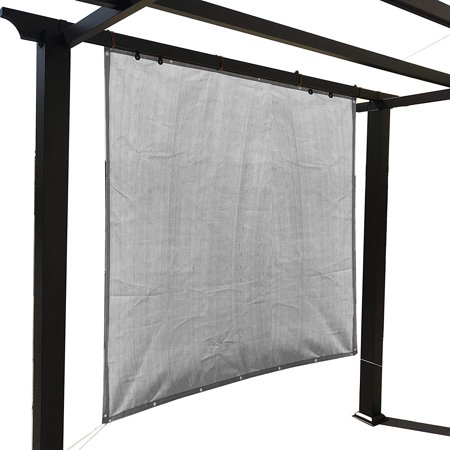 Sand Sun Shade Privacy Panel with Grommets on 4 Sides for Patio, Awning, Window, Pergola or Gazebo 10' x 6' ()