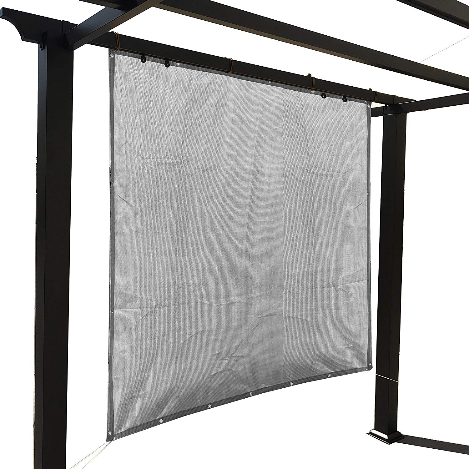 Sand Sun Shade Privacy Panel with Grommets on 4 Sides for Patio, Awning, Window, Pergola or Gazebo 10' x 6'