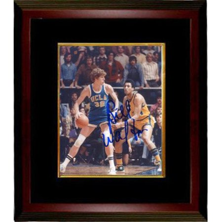 RDB Holdings & Consulting CTBL-MB20377 8 x 10 in. Bill Walton Signed UCLA Bruins Blue Jersey Dribble Vertical Photo Frame, Black & Mahogany