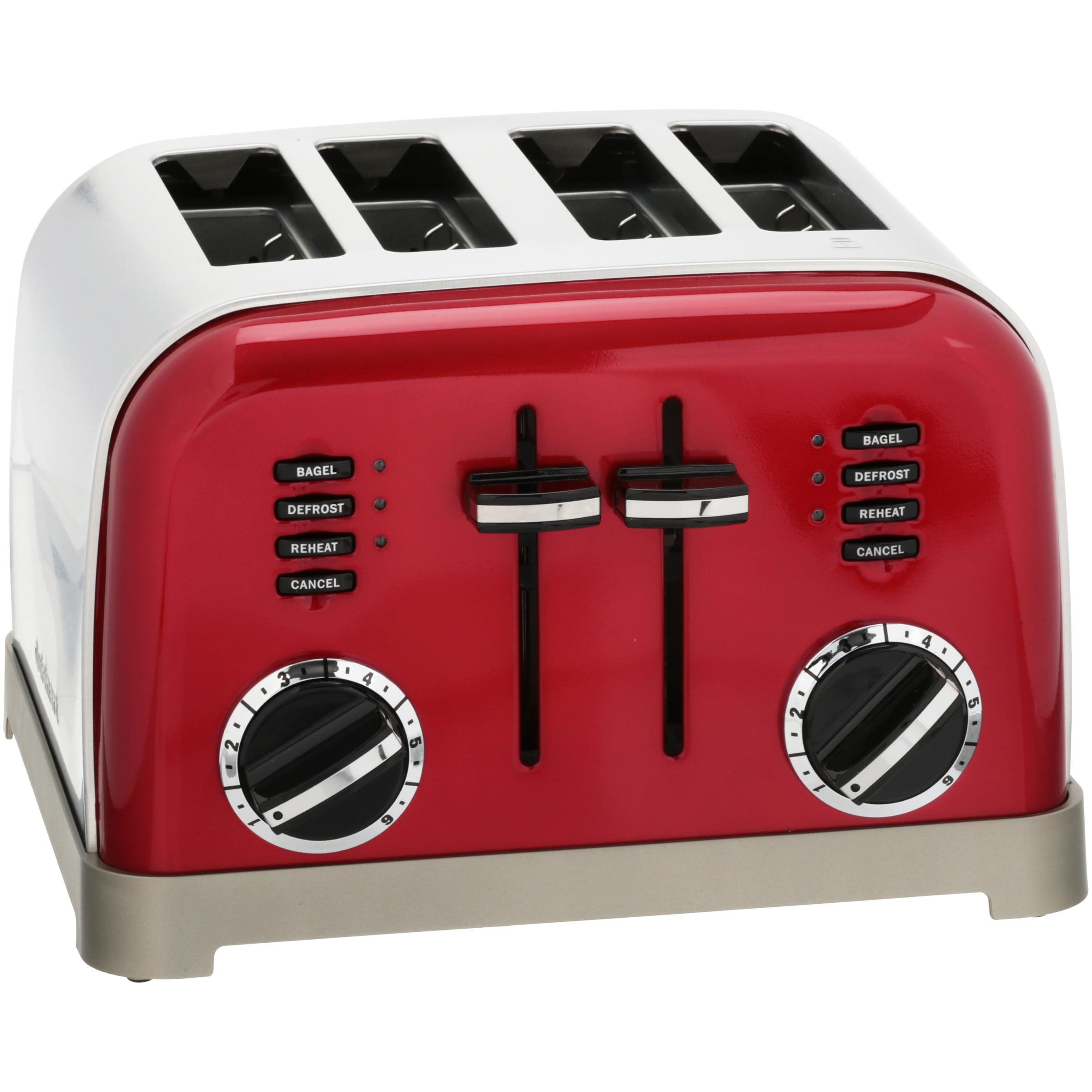Cuisinart Metallic Series 4 Slice Metal Classic Toaster Walmart