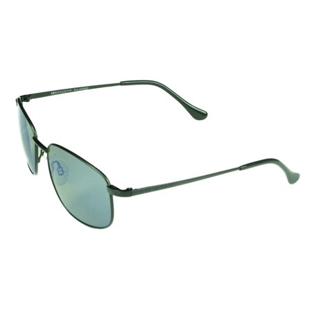Serengeti  Monreale Unisex Satin Black Frame with Polarized Blue Mirror Lens Sunglasses