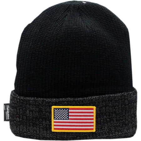 Cook Hats (American Flag Cuffed Knit Hat Thinsulate Full)