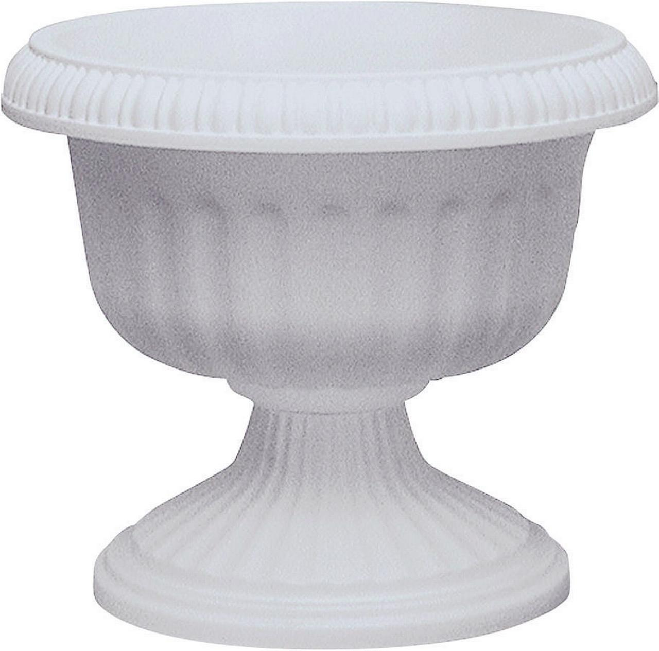 Southern Patio, Dynamic Design UR1212WH Grecian Style Urn Planter, 12 In  Dia X 11.88