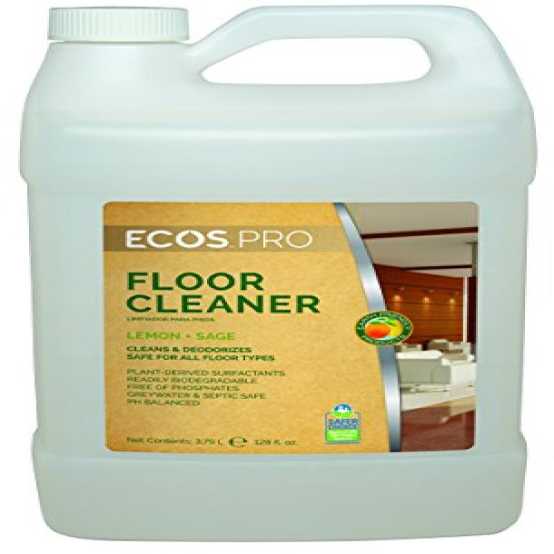 EARTH FRIENDLY PRODUCTS PL9725/04 Floor Cleaner,1 gal.,Lemon-Sage