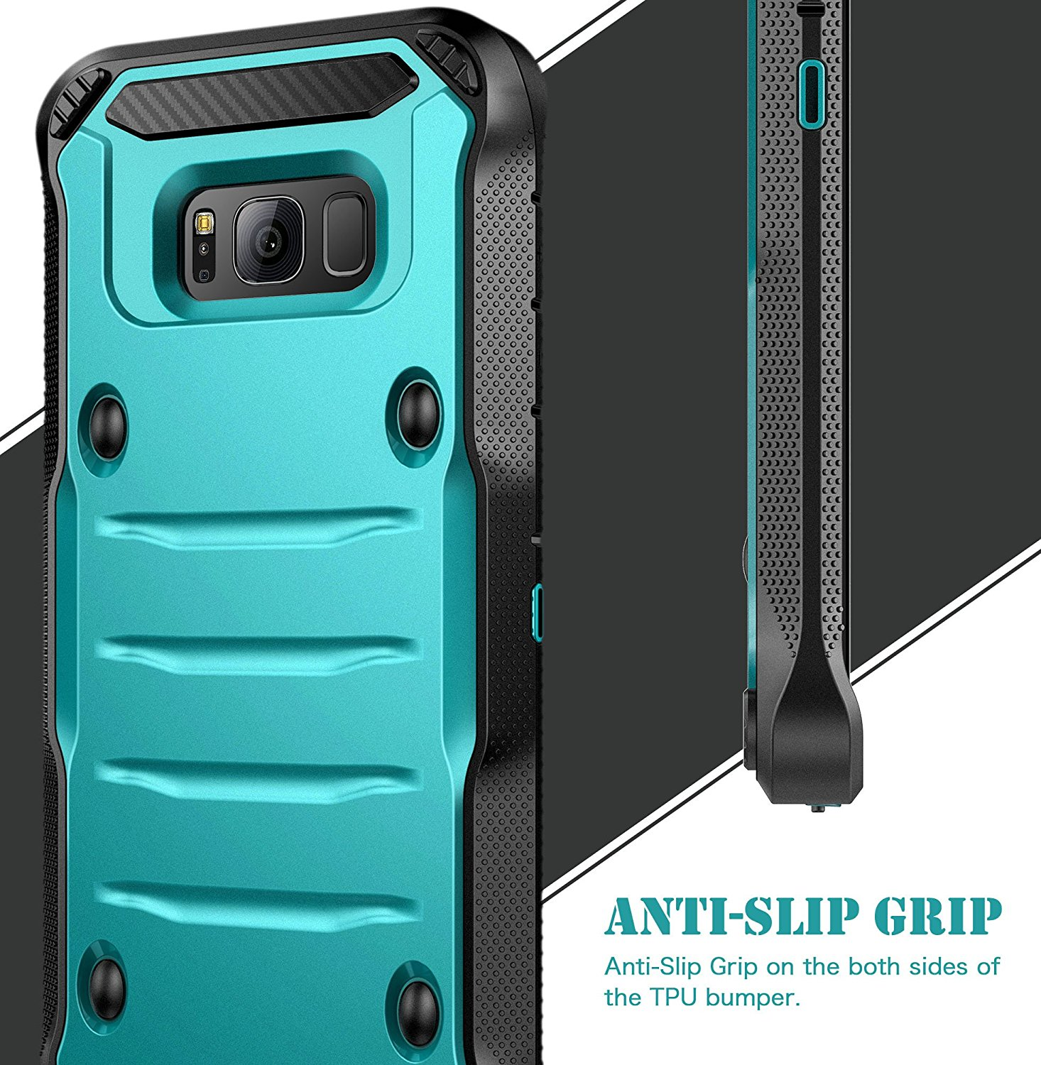 Galaxy S8 Plus Case E Lv Belt Swivel Clip Kickstand Dual Layer Asoftcase Armor Holster Defender Full Body Protective Cover For Samsung