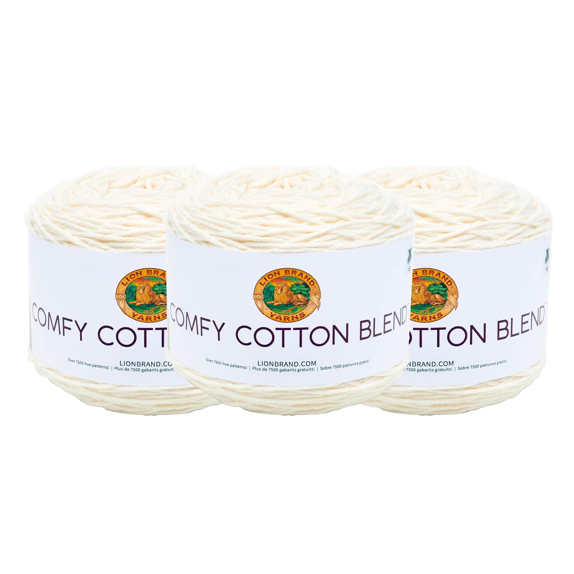 Lion Brand Comfy Cotton Blend Yarn Fireside 023032026817
