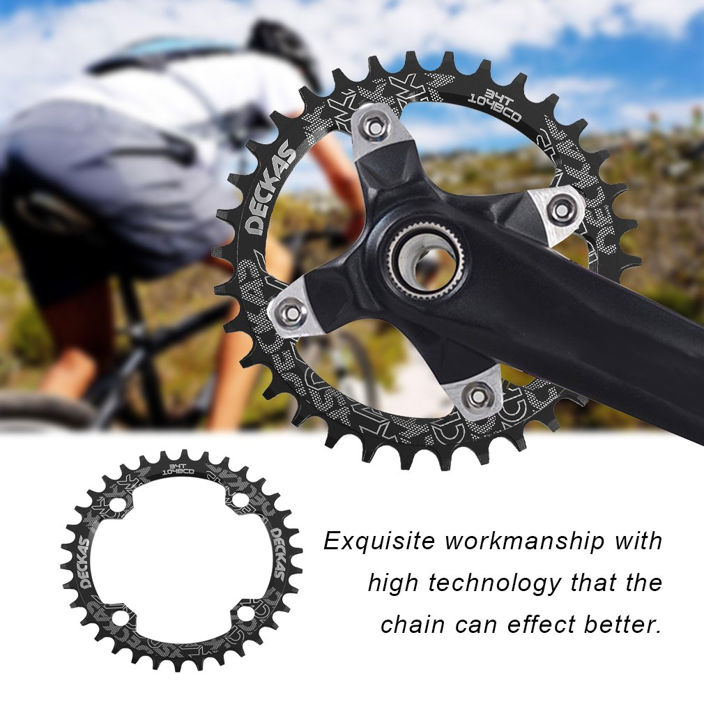 100/% New 104bcd Chainring Round//Oval Narrow Wide Single Chain ring 32//34//36//38T