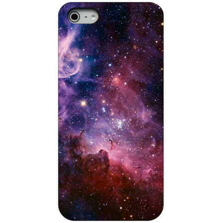 Custom Black Hard Plastic Snap On Case For Apple Iphone 5   5S   Se   Purple Pink Carina Nebula