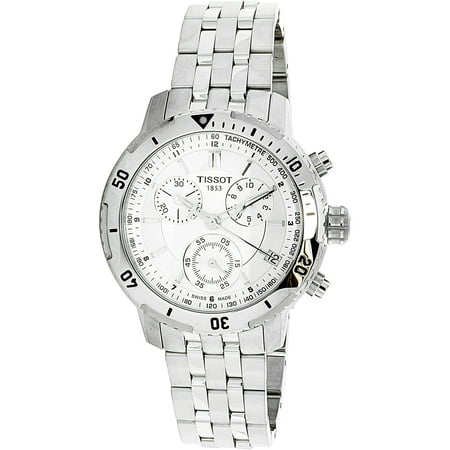 Men's PRS 200 T067.417.11.031.00 Silver Stainless-Steel Plated Swiss Chronograph Dress Watch