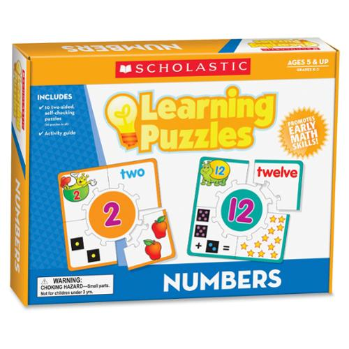 Scholastic Puzzle - Skill Learning: Number Recognition, Picture Matching, Color, Shape - 10 Pieces (shs-545302293_35)