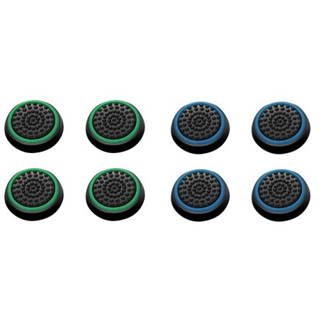 Insten 8 pcs Green & Blue Controller Analog Thumbstick Cap for Microsoft Xbox 360/Xbox One Sony PlayStation 2/3/4