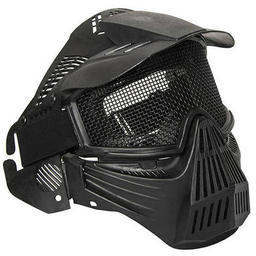 ALEKO PBM207BK Anti-Fog Paintball Mask with Double-Elastic Strap, Black