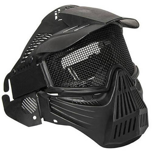 ALEKO PBM207BK Anti-Fog Paintball Mask with Double-Elastic Strap, Black