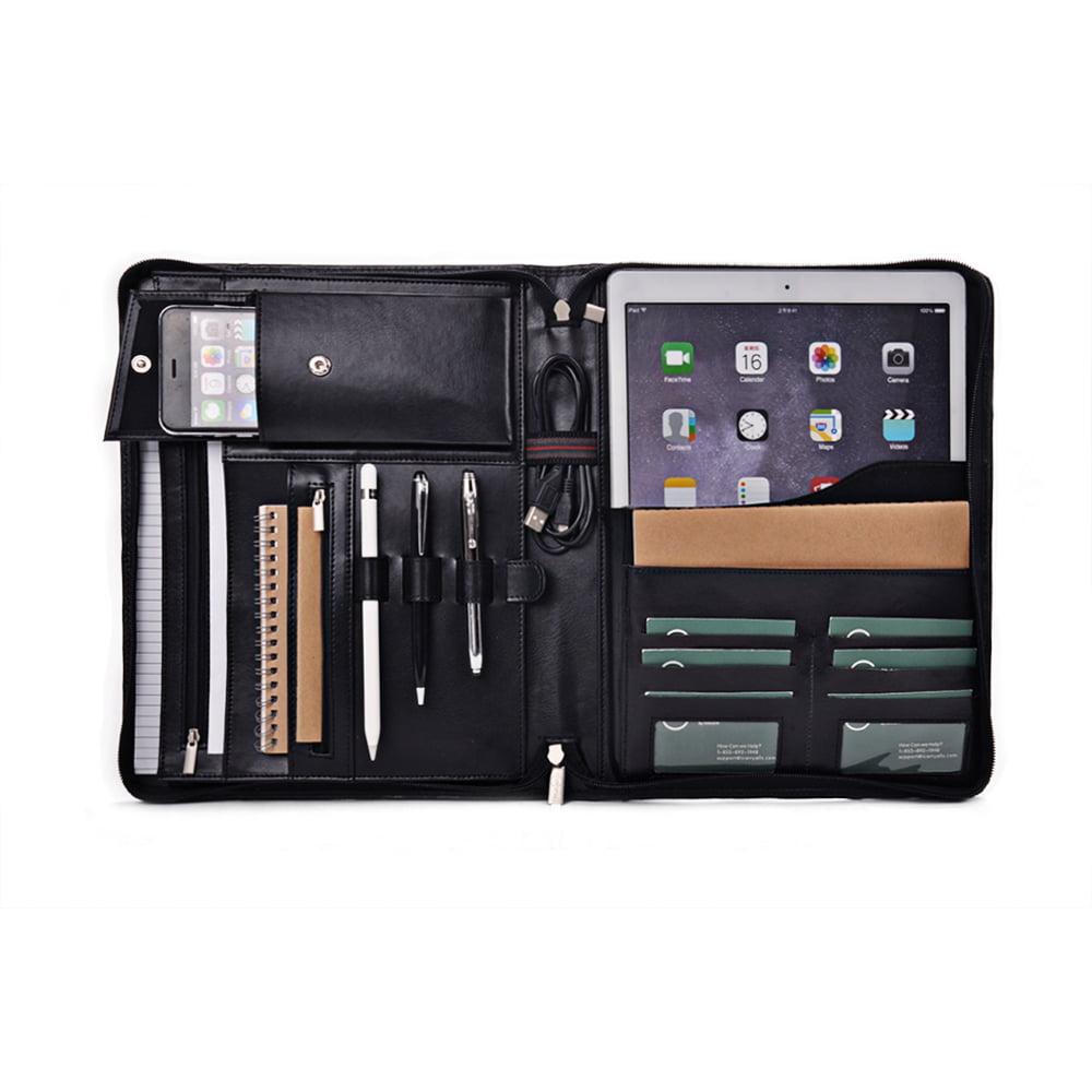 Apple iPad Pro Portfolio, Leather Organizer Case with ...