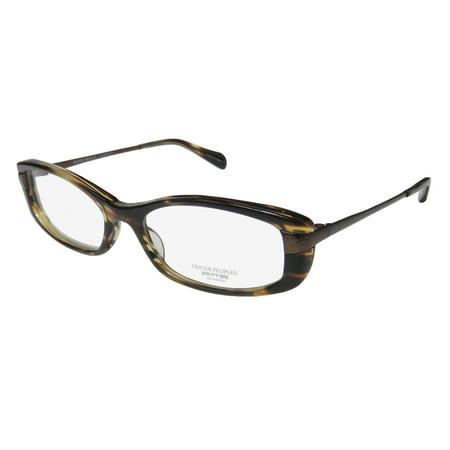 New Oliver Peoples Idelle Womens/Ladies Designer Full-Rim Brown Elegant Stunning Trendy Frame Demo Lenses 50-16-131 Eyeglasses/Glasses