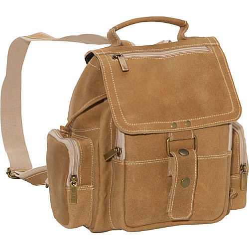 David King Distressed Mid Size Top Handle Backpack