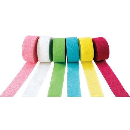 Colorations Crepe Paper Streamers, Pastel Colors - Set of 6 (Item # STRMRS2)