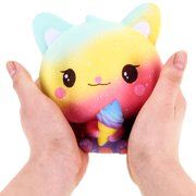 Siaonvr Squishy Galaxy Cat Scented Charm Slow Rising Squeeze Stress Reliever Toy