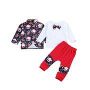 Springcmy Baby Boys Christmas Clothes Set