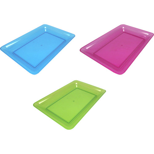 Tray 1ct 14x10 Asst Colors