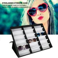 WALFRONT 18 Grids Glasses Storage Box Jewelry Display Case Sunglasses Organizer Box