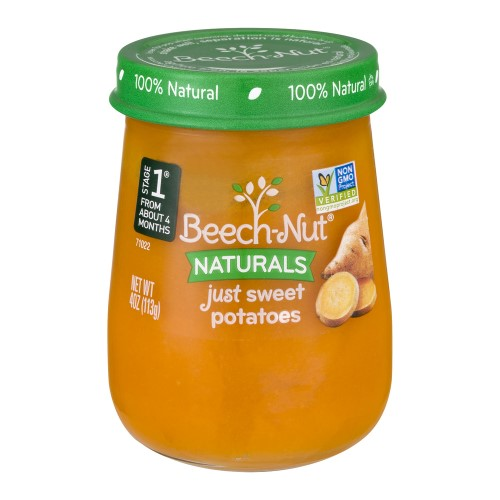 Beech-Nut Naturals Just Sweet Potatoes Stage 1, 4.0 OZ (Pack of 14)