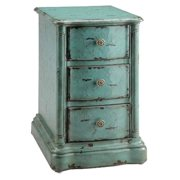 Chair Side Chest in Vintage Turquoise