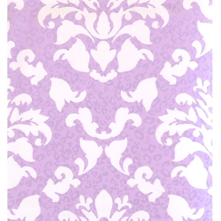 DAMASK - Traditional Prepasted Color White, Violet Wallpaper Roll - image 1 of 1