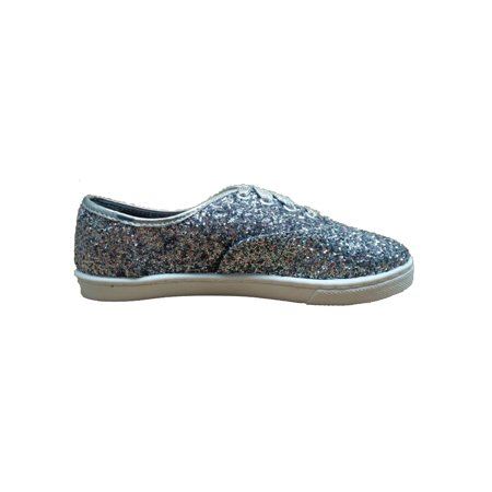 Wonder Nation Girls' Sparkle Canvas Casual - Modern Shoes For Girls