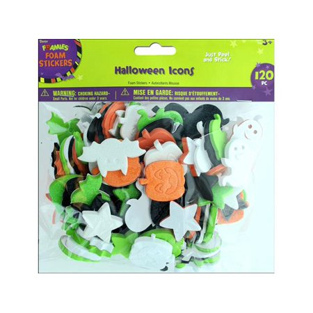 Darice Halloween Foam Stickers: Assorted Styles, 120 pcs