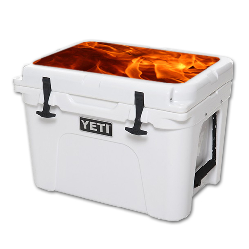 MightySkins Protective Vinyl Skin Decal for YETI Tundra 35 qt Cooler Lid wrap cover sticker skins Backdraft